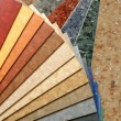 The samples of collection linoleum - Stock Photo