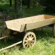 Wooden horse cart — Stock Photo