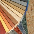 Stock Photo: Collection natural linoleum
