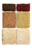 Samples of collection carpet — Stock Photo