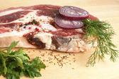 świeża wołowina surowego mięsa — Zdjęcie stockowe