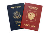 Russian and American passports — Stock Photo