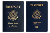 Old and new American passports — Stock Photo
