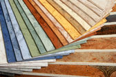 The samples of collection linoleum — Stock Photo