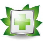 Green cross — Stock Vector