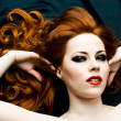 Stock Photo: Redhead sensuality