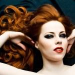 sensualità rossa — Foto Stock