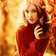 Stock Photo: Miss autumn