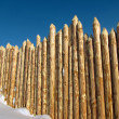 Stock Photo: Wooden paling