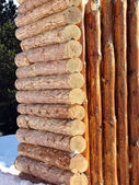 Wooden log wall — Stock Photo
