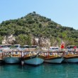 Moored boats, Turkey — Stock Photo