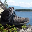 Trekking boot — Stock Photo