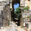Arch in the ancient amphitheater, Myra, Turkey — Stock Photo