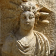 Ancient bas-relief in the amphitheater at Myra, Turkey — Stockfoto