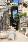 Arch in the ancient amphitheater, Myra, Turkey — Stock Photo