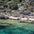 Sunken City Kekova, Antalya, Turkey — Stock Photo