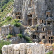 Lycian tombs in Myra, Turkey — Stockfoto