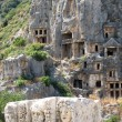 Lycian tombs in Myra, Turkey — 图库照片