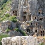 Lícia túmulos em myra, Turquia — Foto Stock