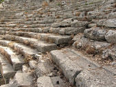 The steps of the ancient amphitheater in Phaselis, Turkey — Stock Photo