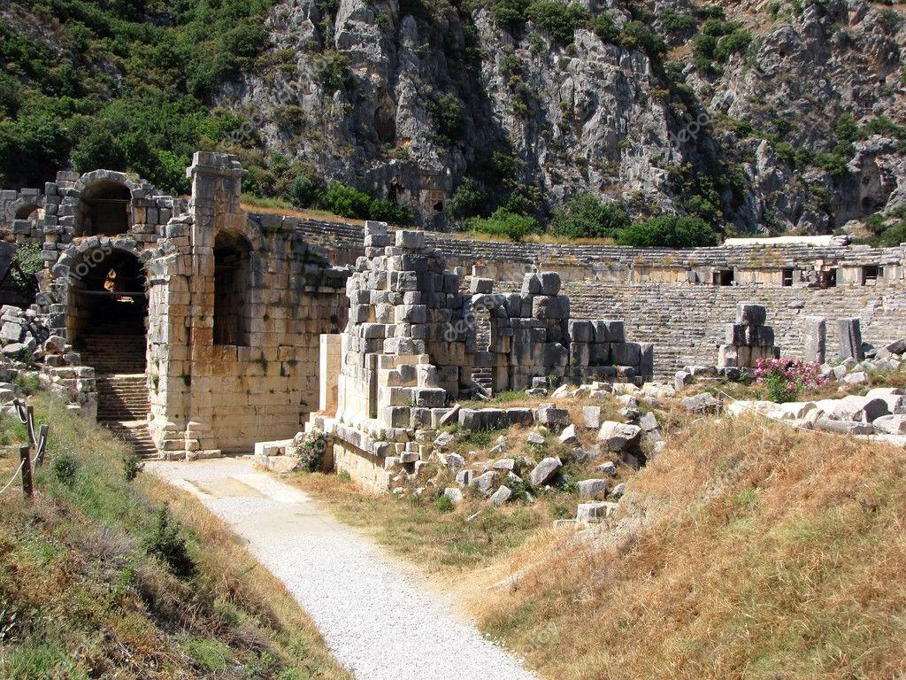 Ancient amphitheater, Myra, Turkey - Stock Image