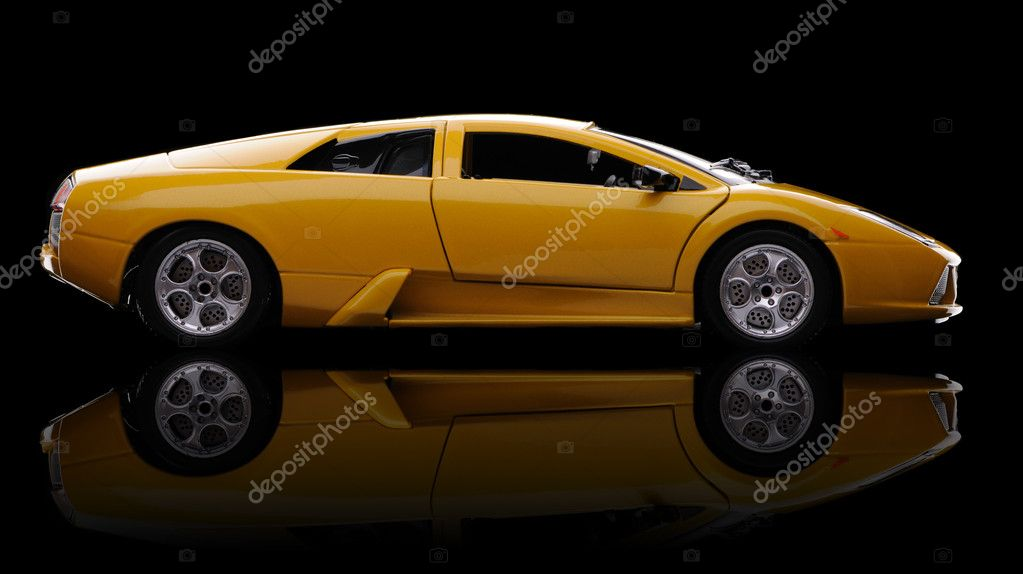 Sports car over black with reflection — Stock Photo #2830467
