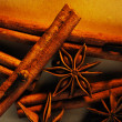 Stock Photo: Cinnamon sticks, anise and clove