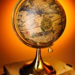 Antique globe on books — Stock Photo #2999622