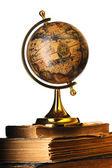 Starodawny globus na książki — Zdjęcie stockowe