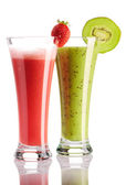 Strawberry & kiwi smoothie — Stock Photo