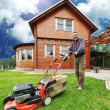 The Lawnmower Man - Stock Photo