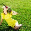 Meadow girl — Stock Photo