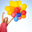Woman with balloons — Stock Photo #3461302