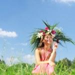 Meadow girl — Stock Photo #3478737