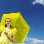 Woman with umbrella — Stock Photo #3478749