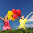 Girls with balloons — Stock Photo #3478756