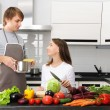 Couple cooking — Stock Photo #3484327