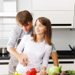 Couple cooking — Stock Photo #3484341