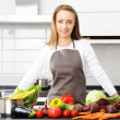 Woman cooking — Stock Photo #3484356