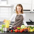 Woman cooking — Stock Photo #3484362