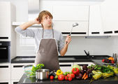 O que eu estou cozinhando? — Foto Stock