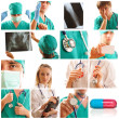 Medical collage - Stock Photo