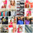 Shopping collage - Foto Stock