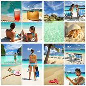 Resort collage — Stock fotografie