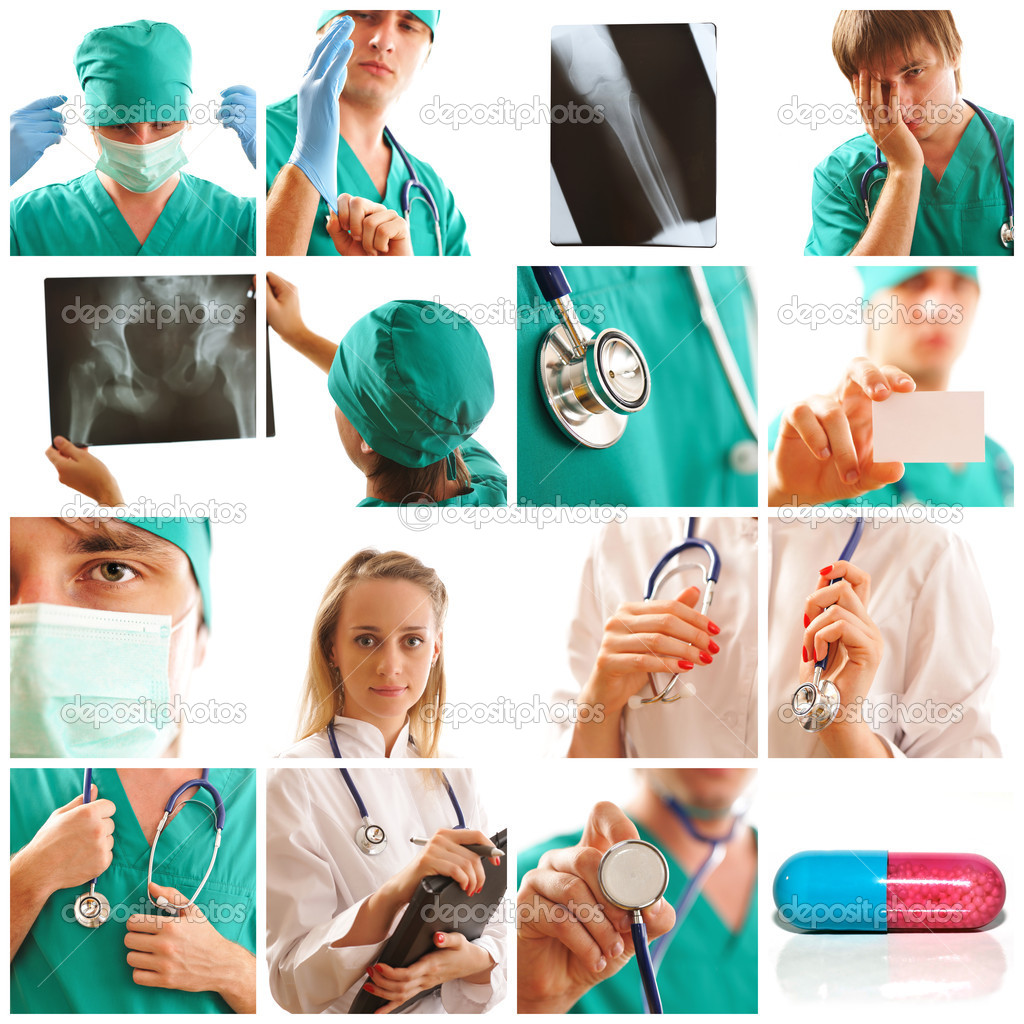 Collage made with medical related images — Foto Stock #3537379