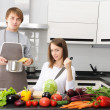 Couple cooking — Stock Photo #3677068