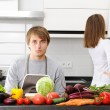 Couple cooking — Stock Photo #3689633