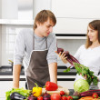 Couple cooking — Stock Photo #3689637
