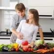 Couple cooking — Stock Photo #3689641