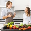 Couple cooking — Stock Photo #3689643